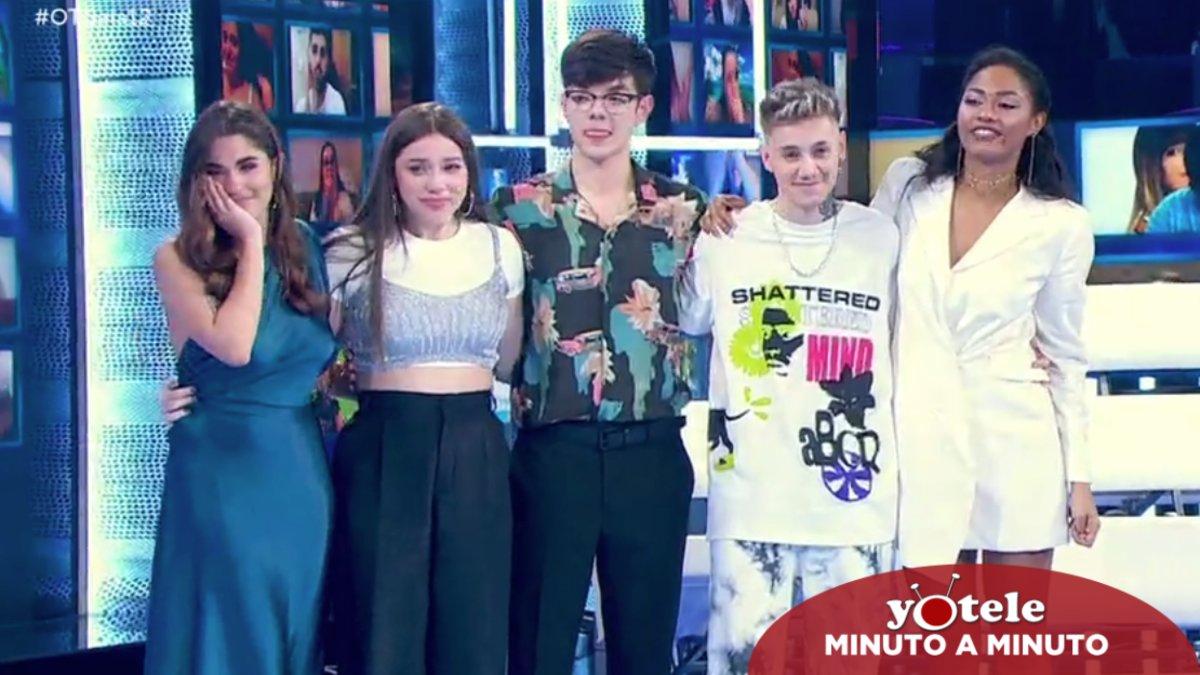 Anaju, Eva, Flavio, Hugo y Nía, los cinco finalistas de 'OT 2020'.