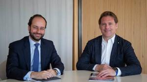 Imagendeldirector de BS Capital,Raül Rodríguez,y del gestor de Asabys Partners,Josep Lluís Sanfeliu.
