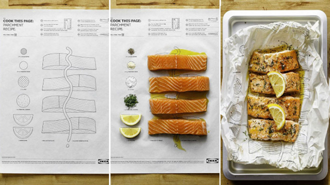 Así funcionan las páginas comestibles de Ikea Cook this page (Cocina esta página)