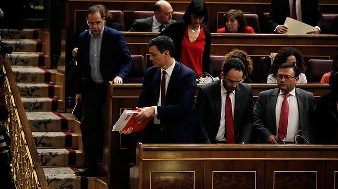 Así han votado los principales líderes políticos tras el debate de investidura de Pedro Sánchez.