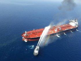 Ataque a un buque petrolero en el Golfo deOmán.