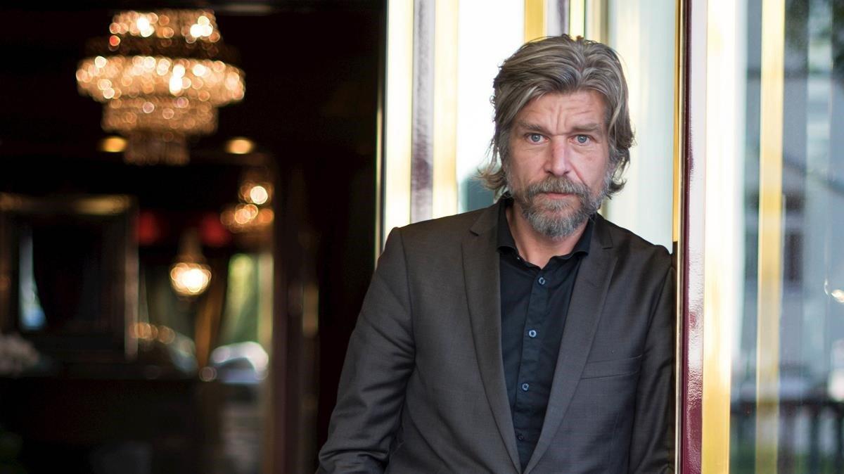 El autor noruego Karl Ove Knausgard en un hotel de Berlín.