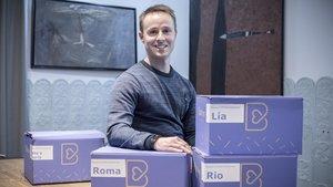 El fundadorde Barkyn, André Jordao; una'start-up' que produce y comercializacomida para perros personalizada.