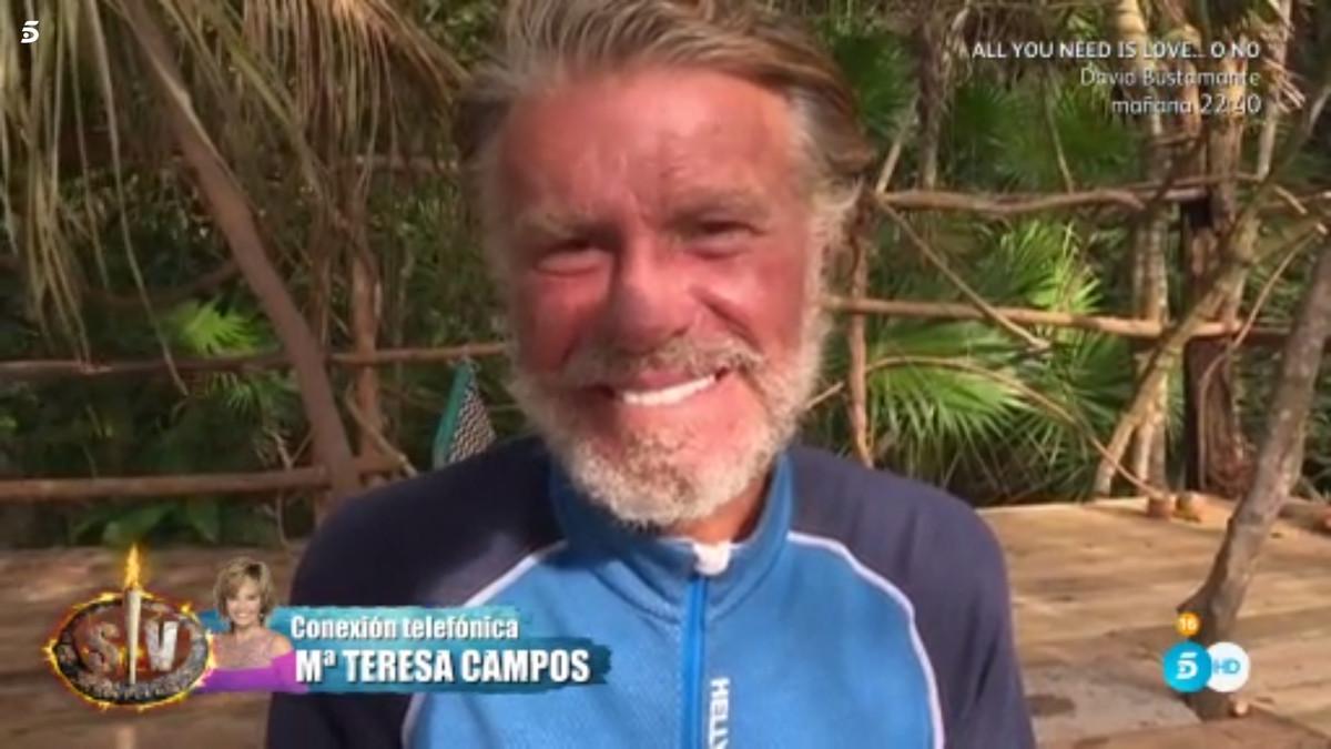 Bigote Arrocet, durante su conversación con María Teresa Campos, en Supervivientes.