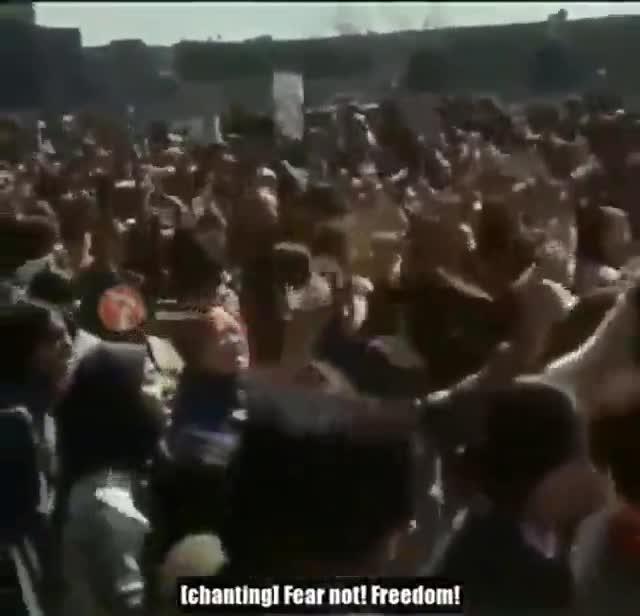 Vídeo que realizó Masih Alinejad con motivo del 8-M de protestas contra el hiyab.