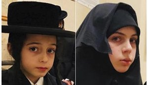 Chaim y Yante Teller, los dos hermanos presuntamente secuestrados por Lev Tahor en Nueva York.