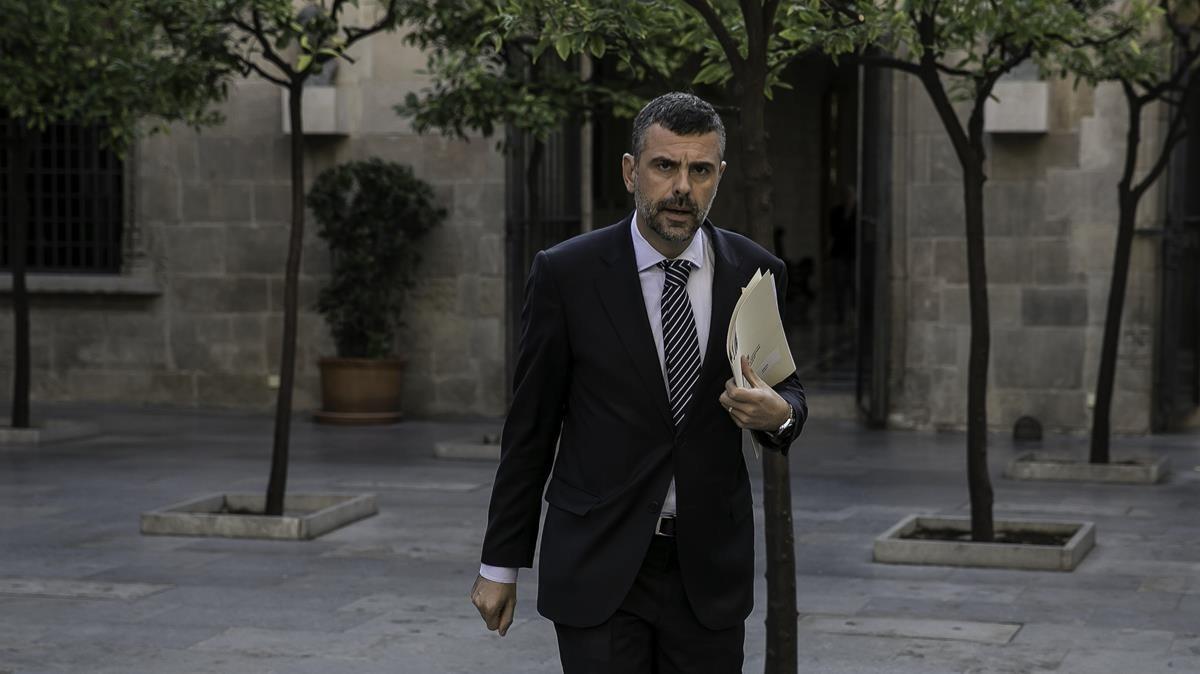 El exconseller Santi Vila, en la Generalitat.