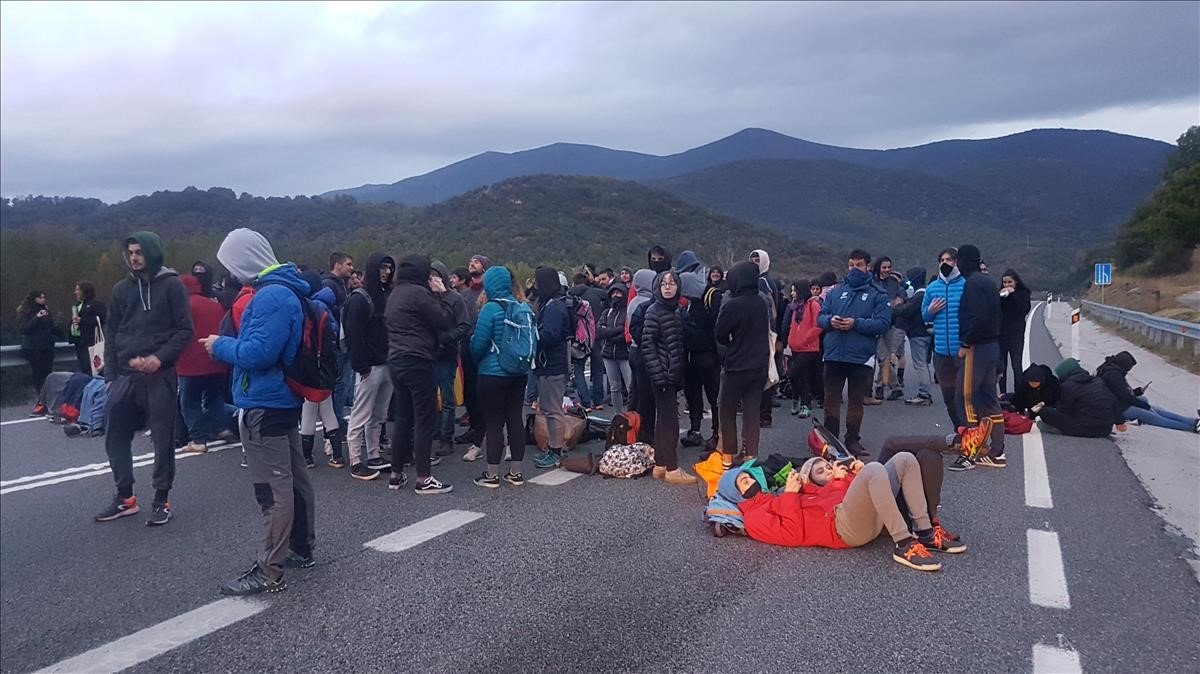 Cortede la carretera de la Seu d'Urgell el pasado 18 de octubre.