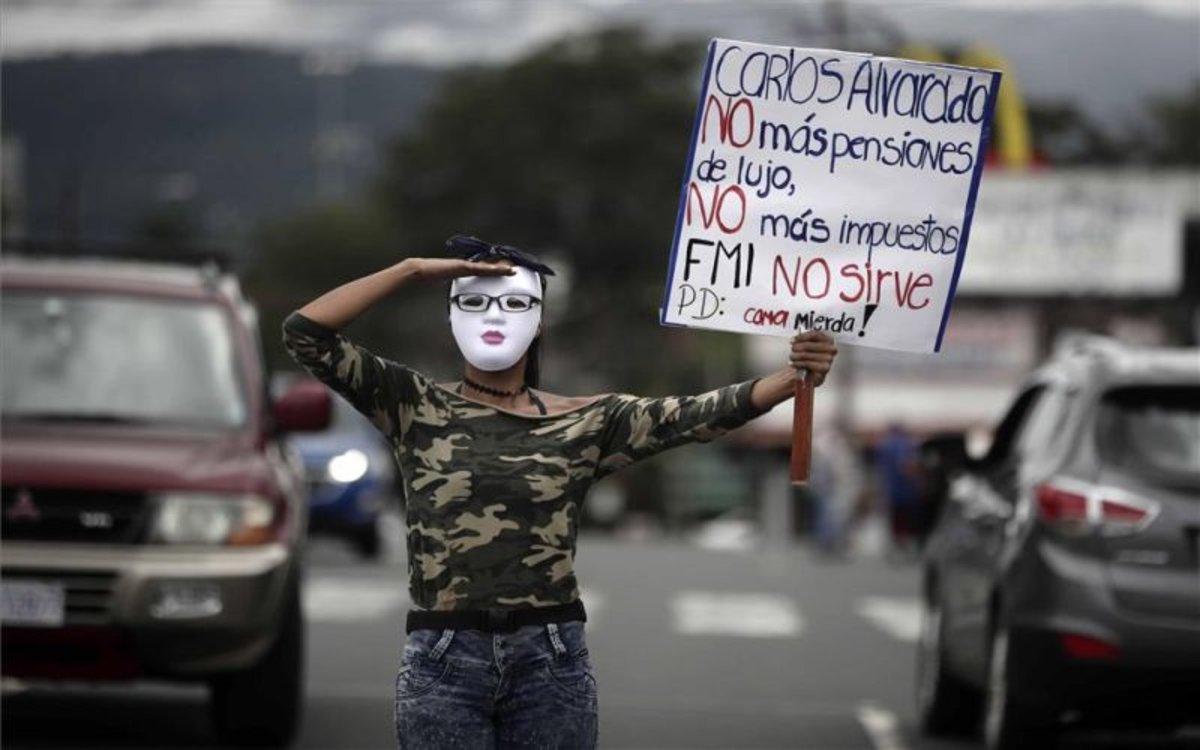 Protestas en Costa Rica contra el FMI y el aumento de impuestos
