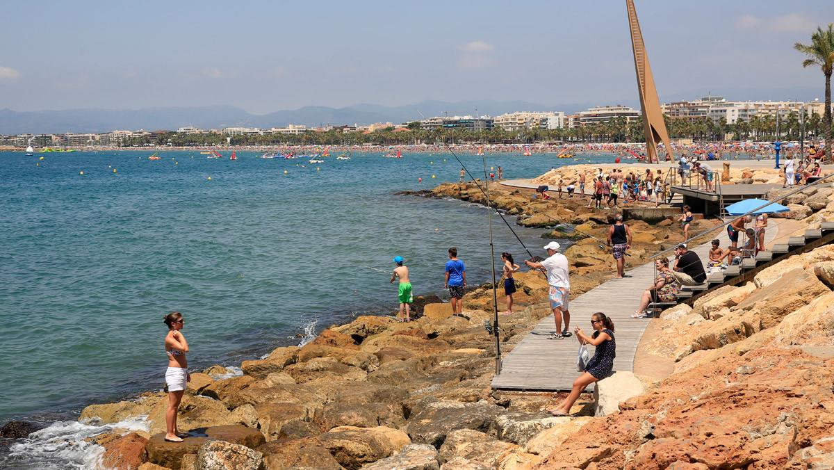 La costa de Salou.