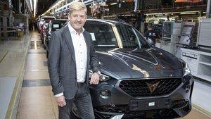 El presidente de Seat y Cupra, Wayne Griffiths, en la puesta en producción del Formentor.