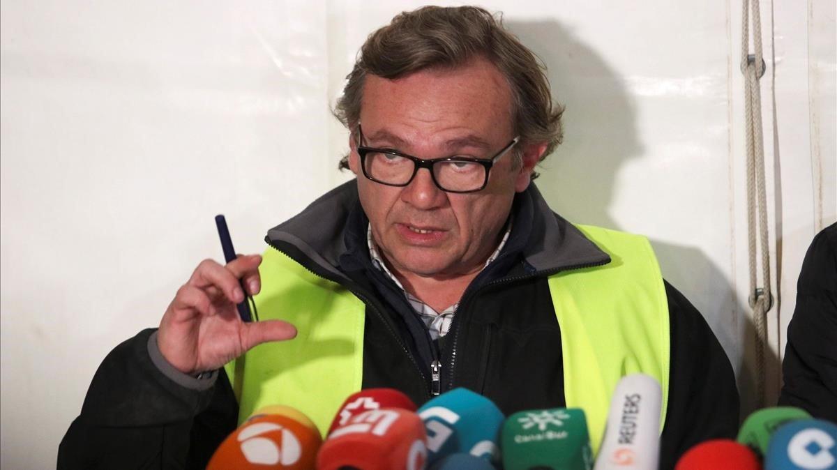 El delegado del Colegio de Ingenieros de Málaga y coordinador del operativo de rescate, Ángel García Vidal.