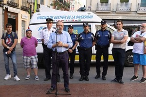 El delegado de Seguridad, Salud y Emergencias de Madrid, Javier Barbero, en un acto público.