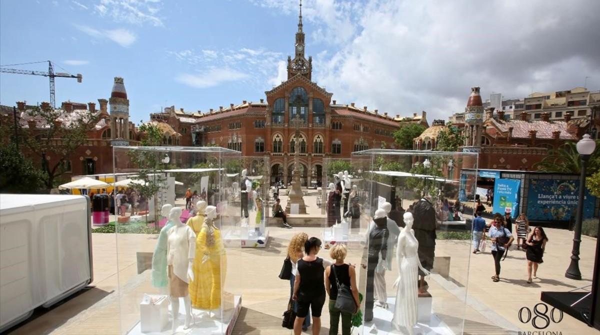 El 080 Barcelona Fashion se celebró en el el Recinte Modernista de Sant Pau en el verano del 2014.
