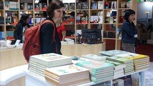 Estand de Barcelona en la Feria del Libro de Buenos Aires