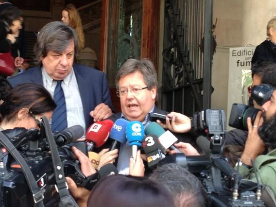 El exconcejal del Ayuntamiento de Barcelona Ramon García-Bragado, este miércoles en los juzgados.