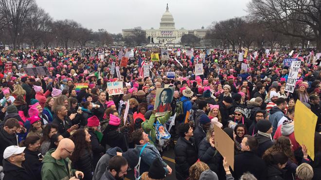 Éxito en la marcha de las mujeres en Washington.