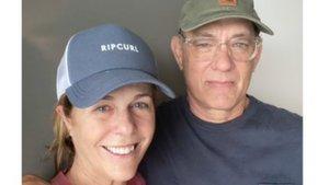 La foto que ha compartido Tom Hanks con su mujer, aislados en el Hospital Universario de Gold Coast (Australia).