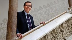 Serge Resnikoff, experto internacional en salud ocular, en el Palau Macaya de la Obra Social La Caixa, donde se desarrolló el Congreso Mundial de Oftalmología a mediados de junio.