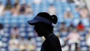 Garbiñe Muguruza, durante la semifinal del Abierto de Australia contra Simona Halep.