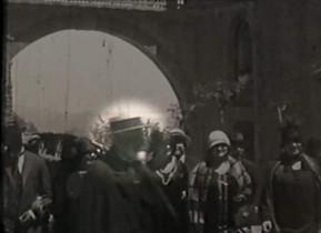 Imagen de un breve vídeo donde aparece Gaudí.
