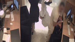 Imagen del ladrón que robó a la familia real de Qatar en un hotel de Barcelona.