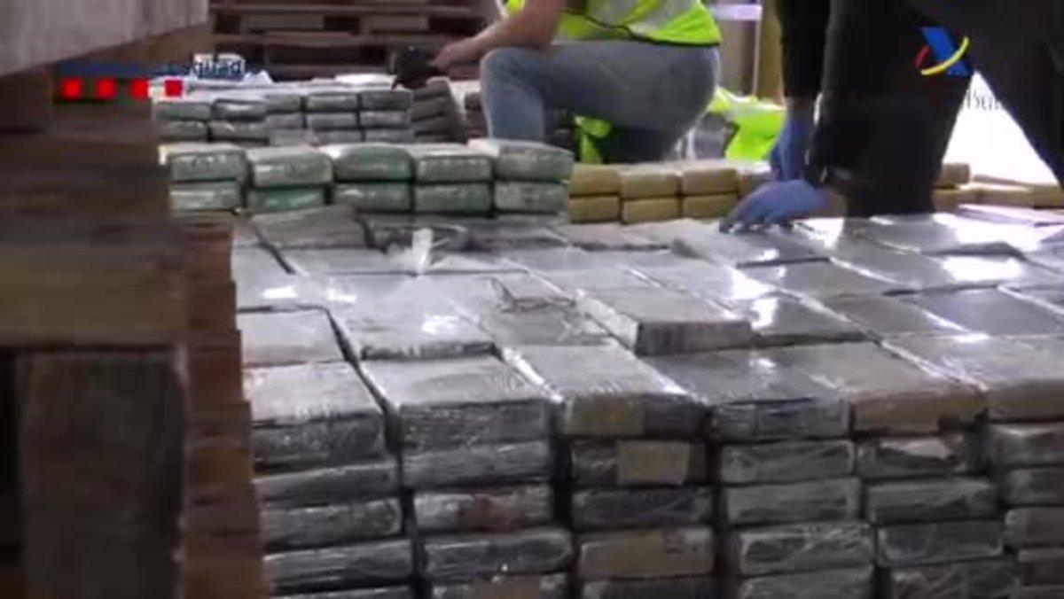 Els 1.000 quilos de cocaïna viatjaven amagats en un carregament de pells