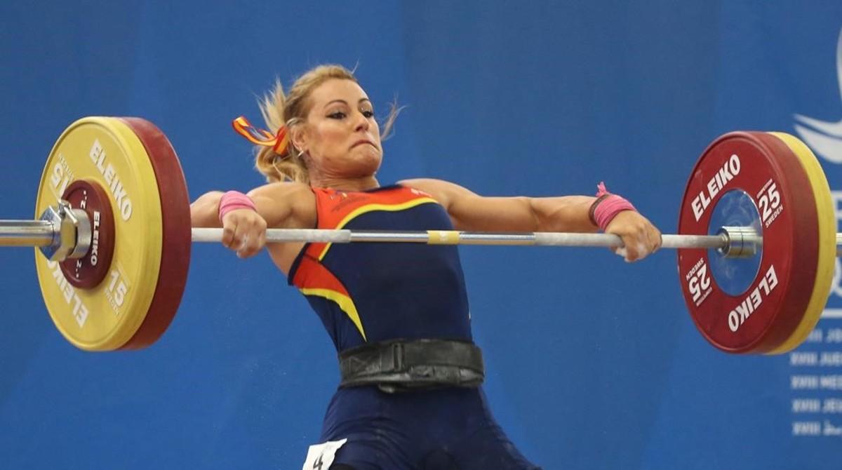 Lidia Valentín, de las pocas cosas extraordinarias de los Juegos Mediterráneos.