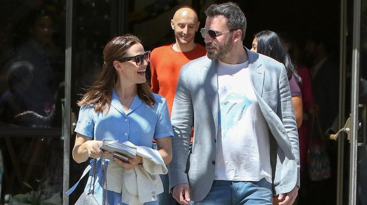 Ben Affleck y Jennifer Garner. este domingo en Los Ángeles.