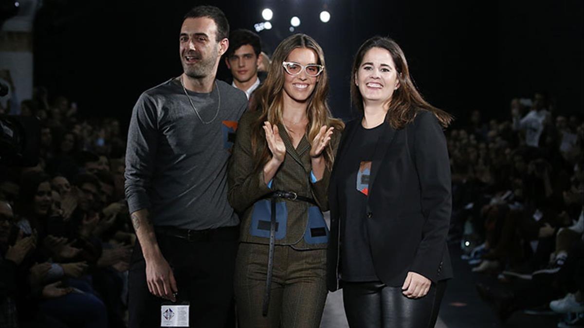 Ona Carbonell, en el desfile de Antonio Miró.