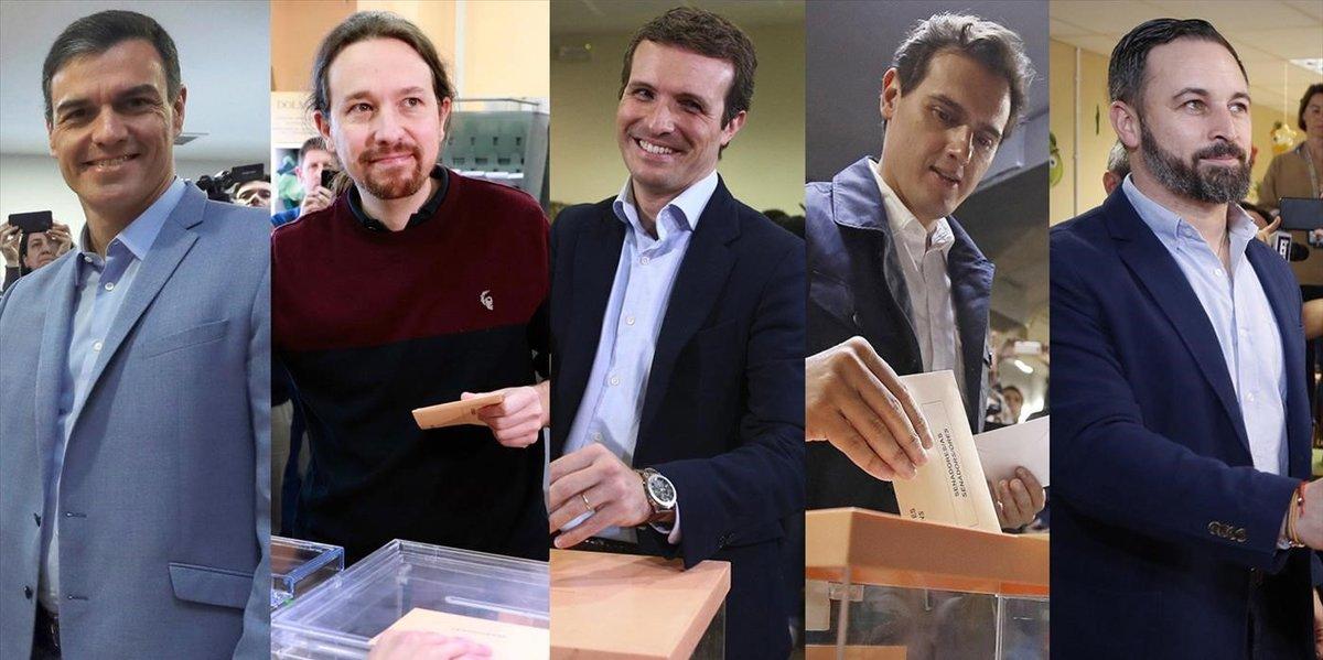 Los principales candidatos en estas elecciones generales.