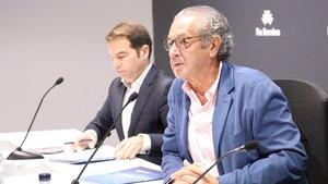 Luis Conde (derecha), en la presentación del Salón Náutico.