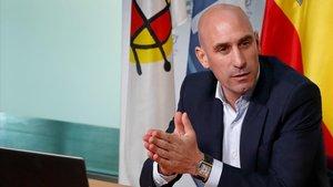 Luis Rubiales, el presidente de la federación española de fútbol.