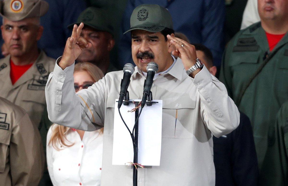 Nicolás Maduro, el presidente de Venezuela en un acto público.
