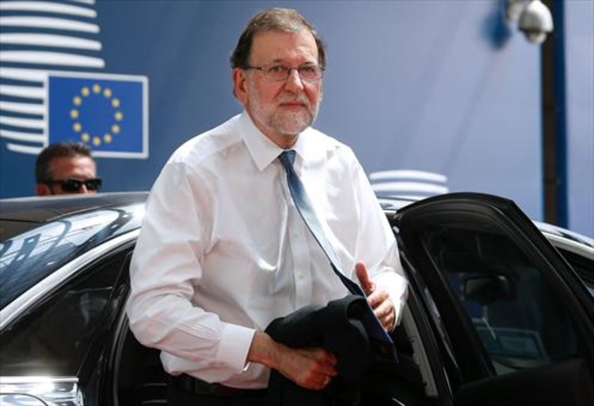 Mariano Rajoy, el jueves, en Bruselas.