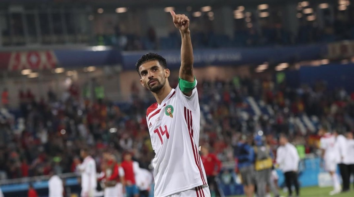 Mbark Boussoufa, el capitán de Marruecos, agradece el apoyo recibido tras el partido frente a España.