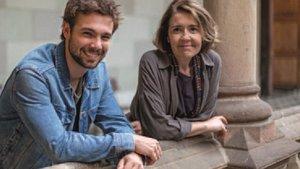 Carlos Cuevas y María Pujalte, protagonistas de 'Merlí: sapere aude'.
