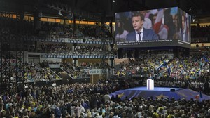 Mitin de Macron en Lyon.