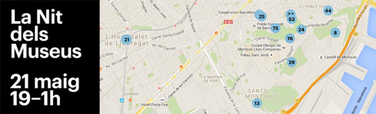 De Cosmocaixa a la Pedrera: los mapas de la Nit dels Museus de Barcelona 2016