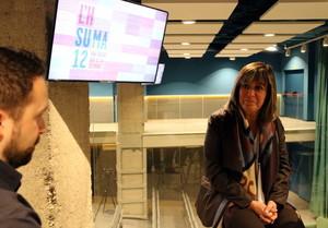 Roda de premsa de Núria Marín, alcaldessa de l'Hospitalet.