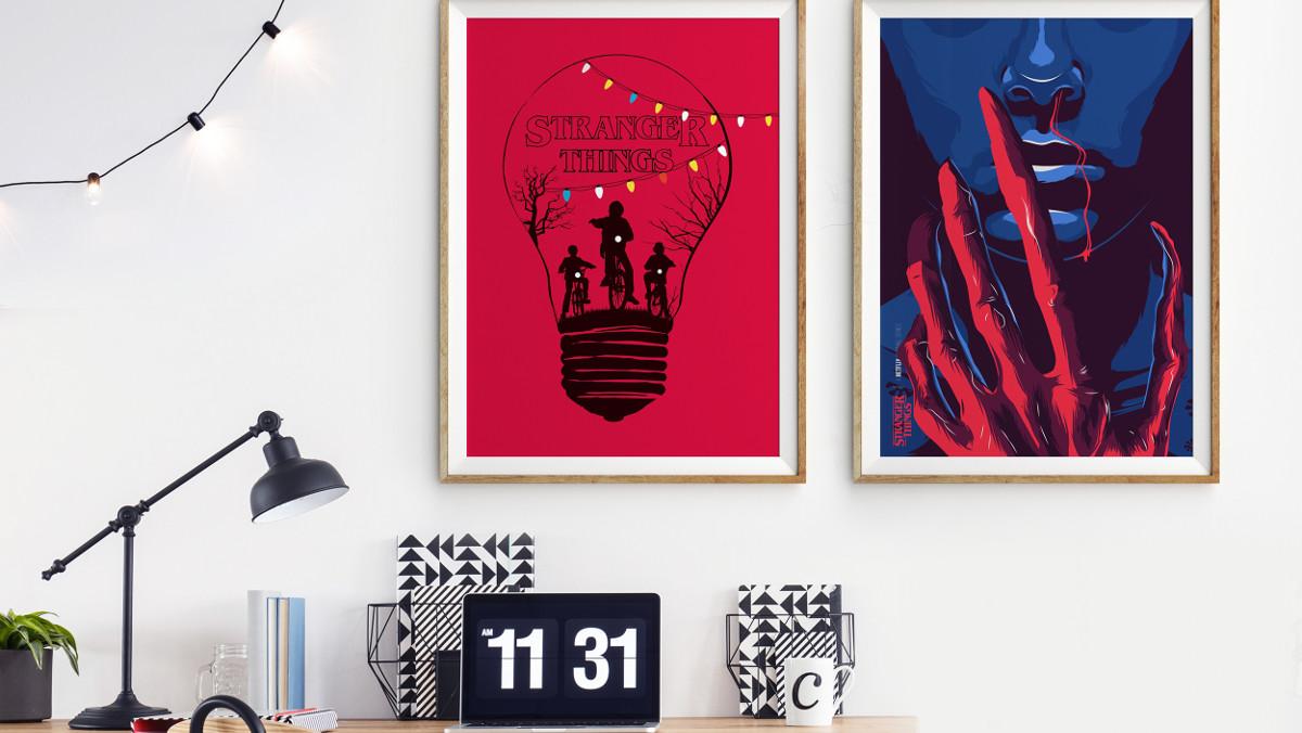 Imagen de los pósters de fan art de Fernando Ojeda sobre la serie de Netflix Stranger Things.