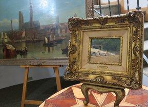 La pintura parte de la producción que el artista (1863-1923).