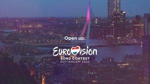 'Open up', el eslogán de Eurovisión 2020, que se celebrará en Róterdam (Países Bajos).
