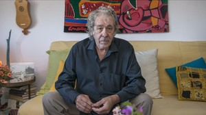 Paco Ibáñez, fotografiado el sábado 14 de noviembre en su casa de Barcelona.