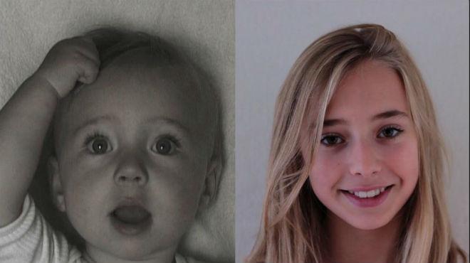 Las imágenes que grabó Frans Hofmeester de la pequeña recién nacida hasta su adolescencia.