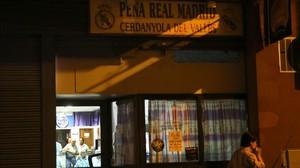 La peña madridista del Real Madrid en Cerdanyola, en octubre del 2013.
