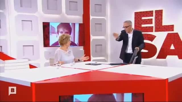 Un fragmento de la entrevista en El pla Sardà de BTV donde Rahola explica la anécdota con Juan Carlos I.