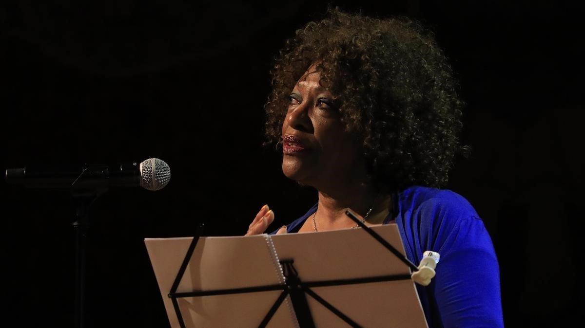 La poeta afroamericana Rita Dove, en el Palau de la Música, el pasado jueves.