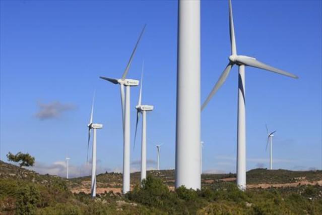 Parque eólico en Catalunya.