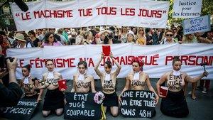 Protesta de activistas de Femen en París, el 6 de julio del año pasado.